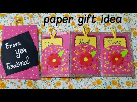 Diy, paper gift idea/ gritting card idea with paper.