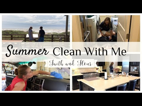 Summer Clean With Me 2019 | After Beach Cleaning Speed Cleaning | Cleaning Motivation