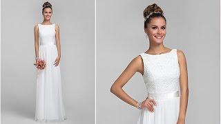 Свадебное платье с кружевным лифом. Bridesmaid Dress