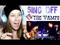 SING OFF VS. THE VAMPS - SHAPE OF YOU | REACTION