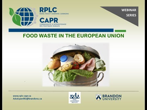 Food waste in the EU  YouTube posted