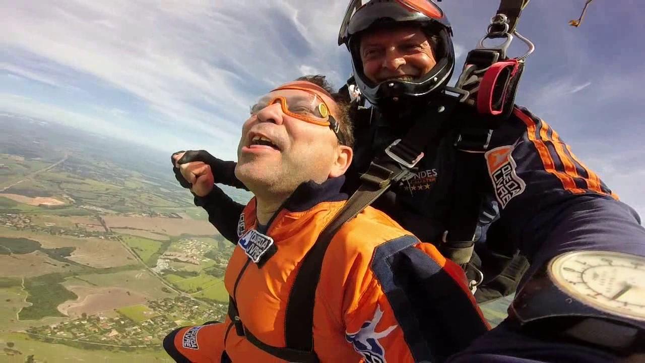 Salto de Paraquedas dó Francisco na Queda Livre Paraquedismo 08 01 2017