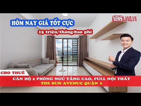 ✅Soi nhanh căn hộ chung cư CHO THUÊ, 2 phòng ngủ tại dự án The Sun Avenue Quận 2 I Newsland.vn