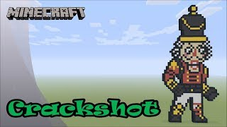 Minecraft: Pixel Art Tutorial: Crackshot (Fortnite Battle Royale) (Merry Christmas)