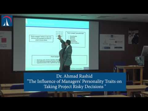Dr. Ahmad Rashid - PhD Project Management