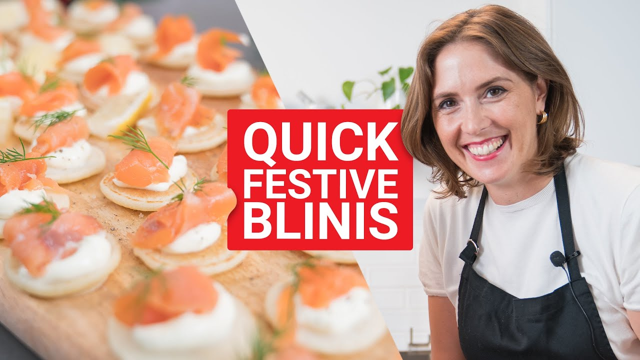 Quick Blinis Recipe Festive Cooking With Olivia Youtube