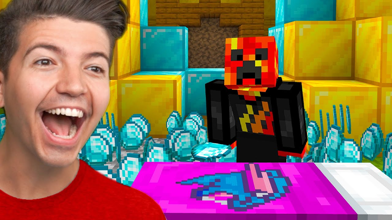Minecraft Bedwars if YouTubers were Beds...