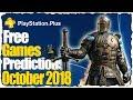 PS PLUS October 2018 Predictions - PS4 Free Games Lineup October