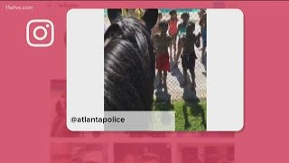 Kids sing 'Old Town Road' to APD's mounted patrol unit