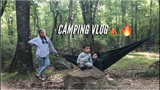 Camping at Trout Pond in West Virginia