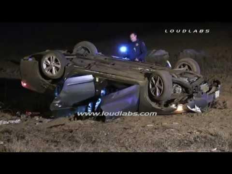 Vehicle vs Pole Fatal Crash / Riverside RAW FOOTAGE
