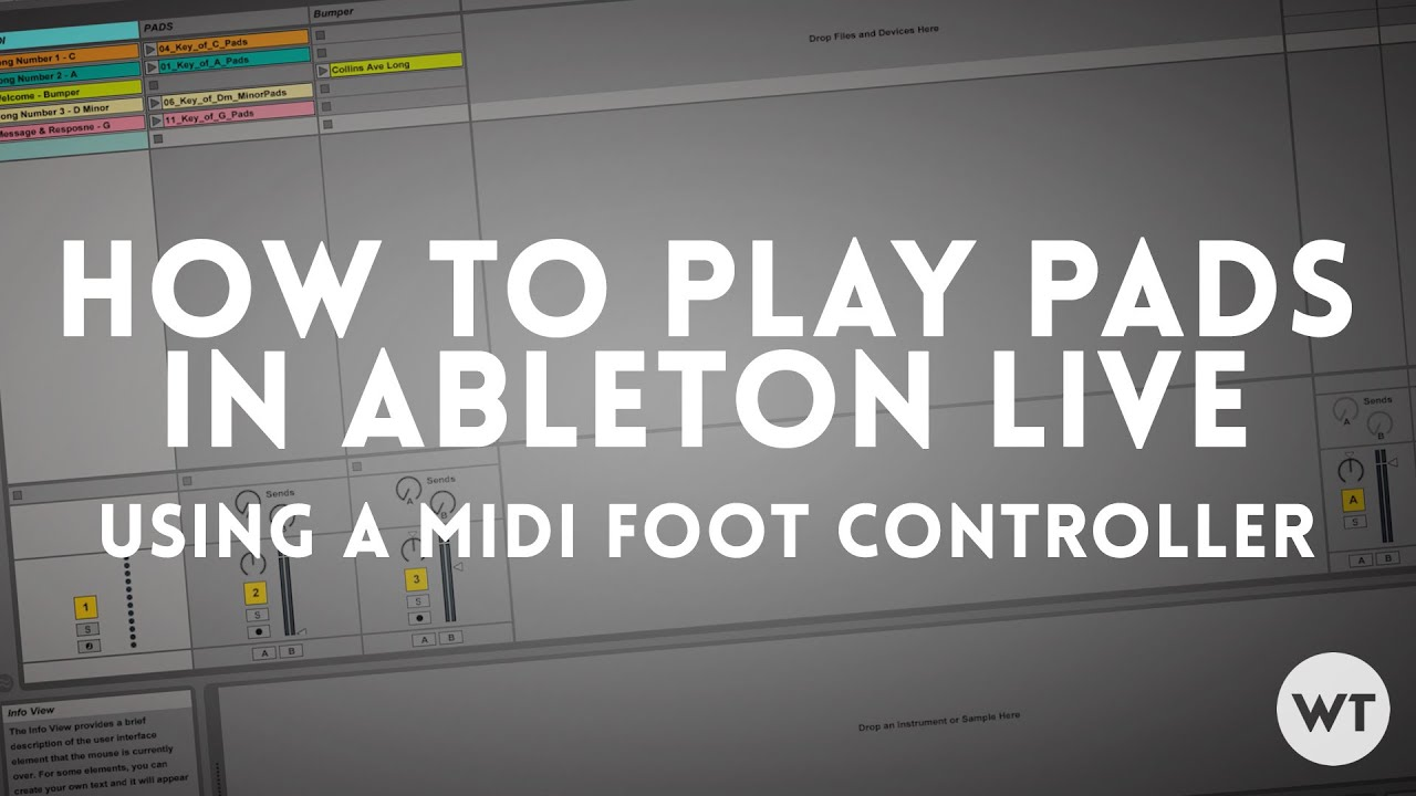 How to play pads in ableton live using a midi foot controller youtube how to play pads in ableton live using a midi foot controller worship tutorials baditri Images