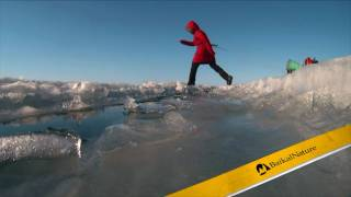Crossing of frozen Lake Baikal with BaikalNature