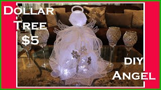 Deco Mesh Christmas Angel DIY -  Dollar Tree DIY Christmas Decor