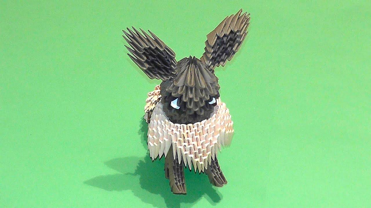 3D origami Pokemon Eevee tutorial - YouTube - photo#31