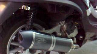 G&G bike exhaust - Piaggio MP3 400