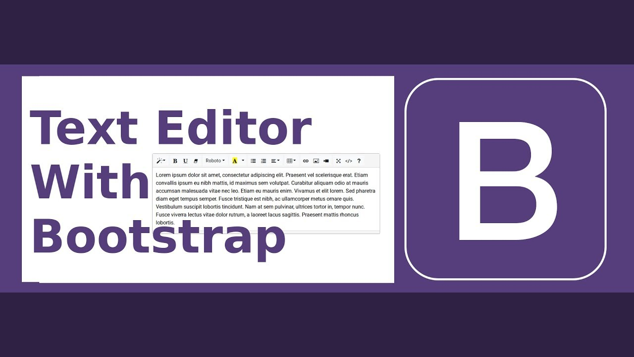 WYSIWYG Rich Text Editor with Bootstrap 4 (Full Featured)