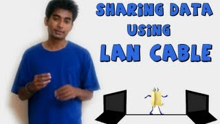 How to share files b/w two computer using a LAN cable (NEW)