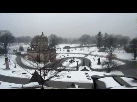 Green Wood Cemetery in Winter  New York