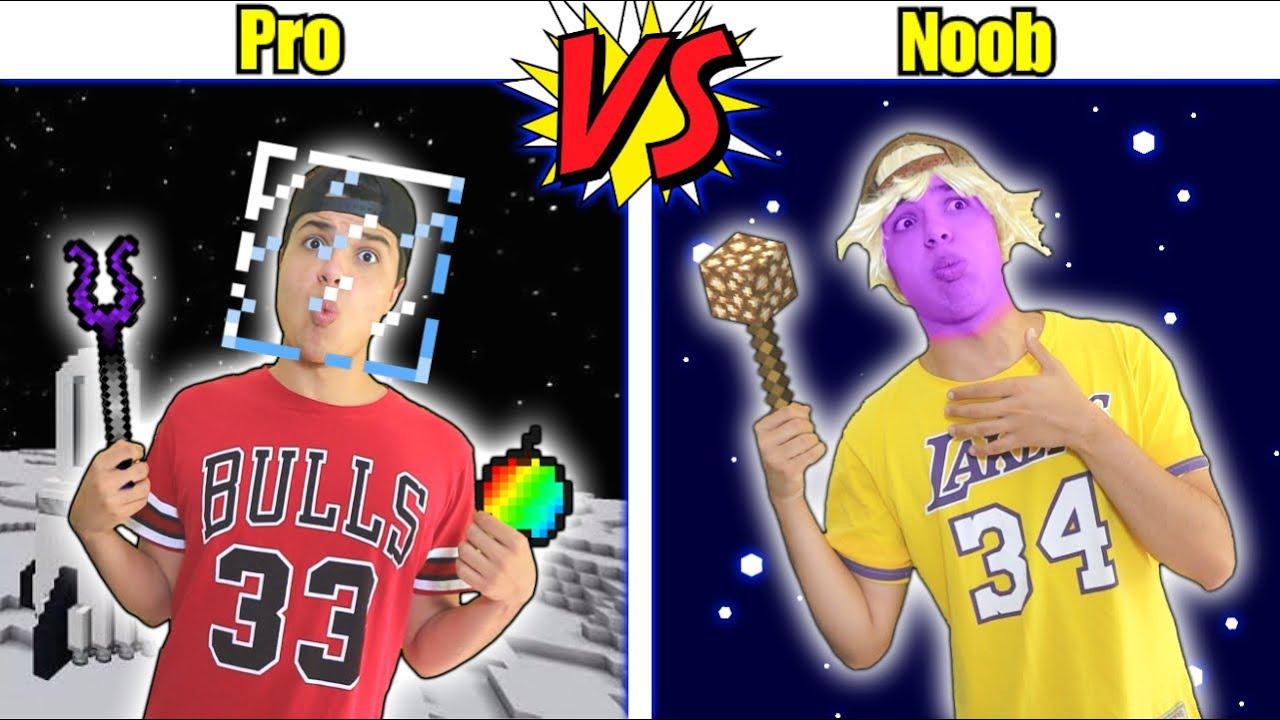 PRO VS NOOB NO MINECRAFT 12 - TIPOS DE ADOLESCENTESS JOGANDO MINECRAFT, NO ESPAÇO !!