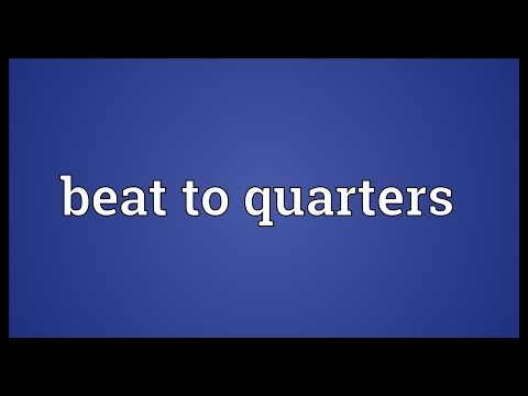 Beat to quarters Meaning