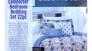 King Comforter Bedroom Bedding Set 12pc