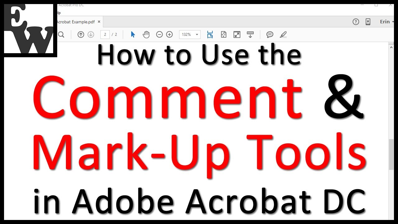 How to Use Adobe Acrobat DC's Comment and Mark-Up Tools (Tutorial)