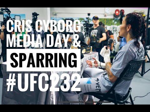 UFC 232 Media Day Cris Cyborg Gym Huntington Beach California Open Workout Sparring