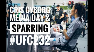 UFC 232 Media Day Cris Cyborg Gym Huntington Beach California Open Workout sparring