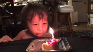 Birthday Boy Imitates Animals to Blow Out Candle