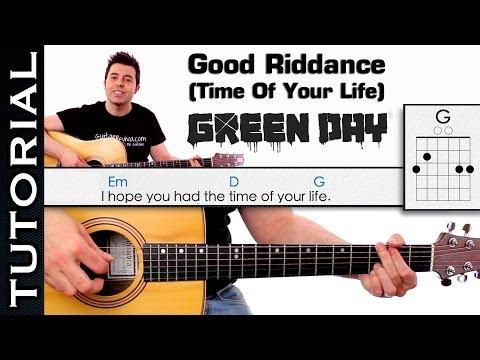 Como tocar GREEN DAY - Good Riddance Time Of Your Life en guitarra acordes y arpegios