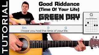 Como tocar GREEN DAY - Good Riddance Time Of Your Life en guitarra acordes y arpegios