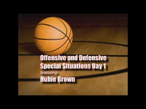 Hubie Brown Offense and Defense - How to Get Post Position