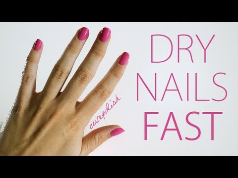 How do nails dry faster