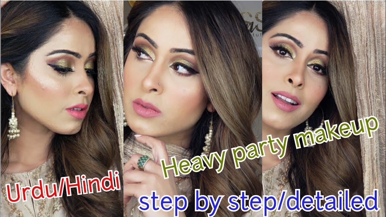 Heavy Party Make Up Step By Step Urdu Glow By Sana Youtube