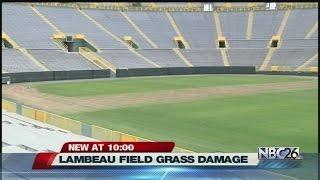 Chesney-Aldean concert damages grass at Lambeau Field