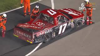 NASCAR Camping World Truck Series 2018. Texas Motor Speedway. Bo LeMastus Crash