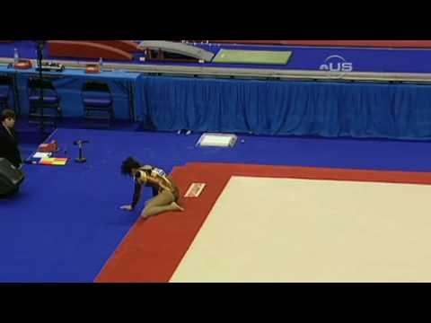 Gymnasts smashes head into floor - from Universal Sports