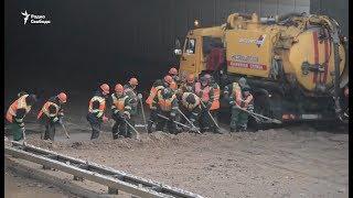 Затопленный Тушинский тоннель в Москве