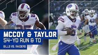 LeSean McCoy's 54-Yard Run Sets Up Tyrod Taylor's Big TD Run! | Bills vs. Raiders | NFL