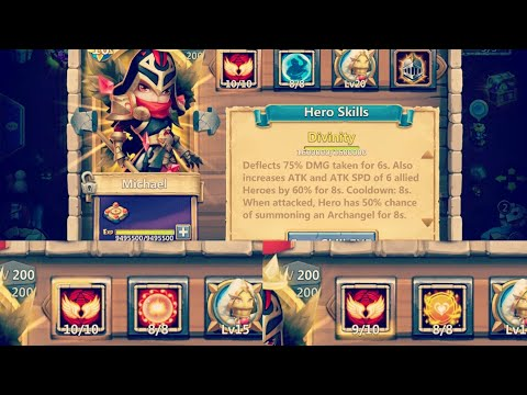 Scorch Michael Gameplay Vs Bulwark & Tenacity Michael & Other Heroes || Castle Clash