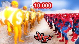 10.000 ZENGİN VS 10.000 FAKİR 😱 - Süper Kahramanlar