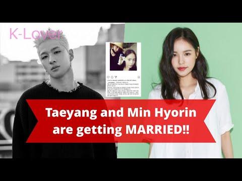 Big Bang's Taeyang and Min Hyorin are getting Married *Taeyang Confirmed Through Beautiful Post*