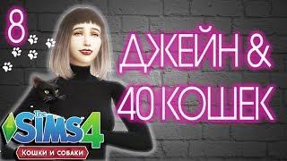 The Sims 4 // ДЖЕЙН И 40 КОШЕК [#8] КОТЫ ИЗ ПРИЮТА