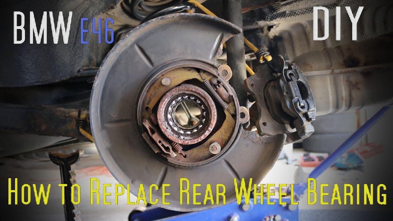 Bmw E46 1998 2005 Rear Wheel Bearing Replacement Diy Youtube