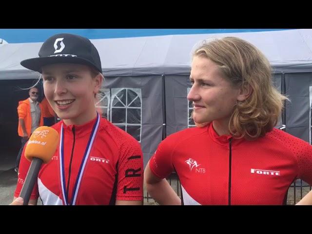 Luna de Bruin en Marije Hijman kronen zich tot Nederlands kampioen duathlon