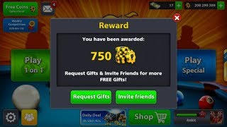 8 Ball Pool Award Links 22th Feb 2018 ||3k Coin+spin|| Best tips and trick