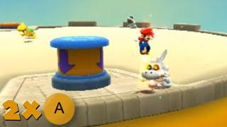 [TAS] Super Mario Galaxy: Sunbaked Sand Castle - 2x A Presses [Mario]