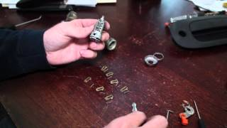 Recode, Rekey Car Door Lock Cylinder - Use Any Key to Unlock Car!!! Ex. Durango