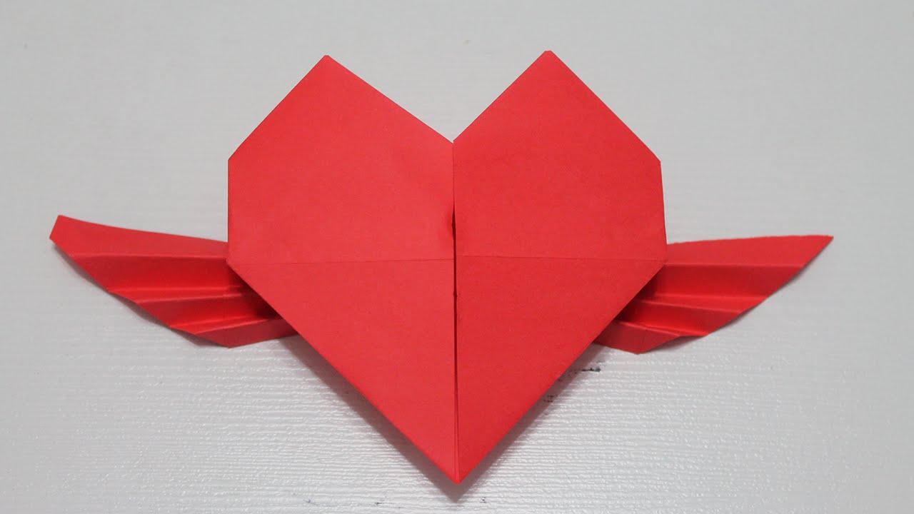 Como hacer un corazon con alas youtube - Como hacer jarrones de papel ...